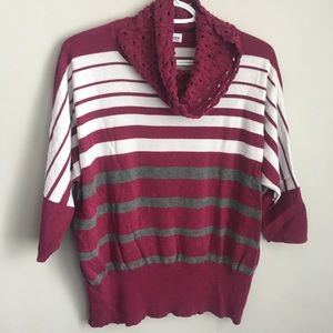 3/25$ Marie Claire shirt with large neck scoop